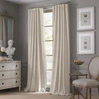 Valeron Estate Cotton Linen 108-Inch Window Curtain Panel in Flax
