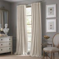 Valeron Estate Cotton Linen 108-Inch Window Curtain Panel in Flax