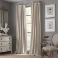 Valeron Estate Cotton Linen 95-Inch Window Curtain Panel in Taupe