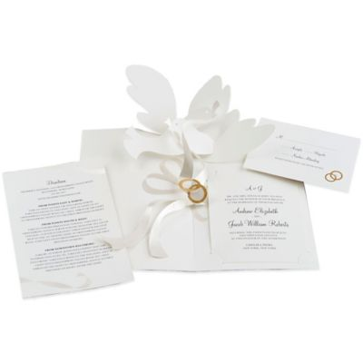 24 count dove pop up wedding invitations - Bed Bath And Beyond Wedding Invitations
