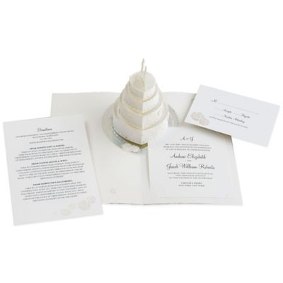 24 count cake pop up wedding invitations - Bed Bath And Beyond Wedding Invitations