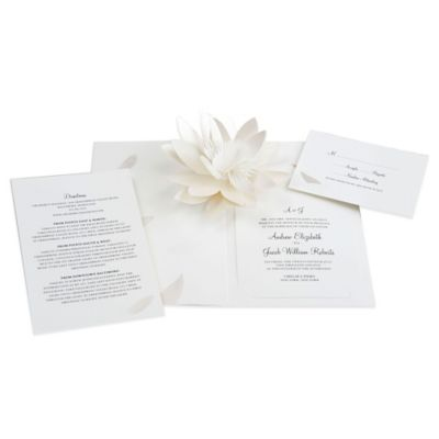 Amazing 24 Count Flower Blossom Pop Up Wedding Invitations