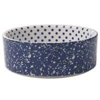 Petrageous® 2-Cup Confetti Dots Pet Bowl in Blue