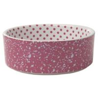 Petrageous® 2-Cup Confetti Dots Pet Bowl in Pink