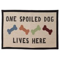 """Petrageous® Polycotton """"One Spoiled Dog"""" Tapestry Placemat in Natural Multi"""