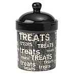 Petrageous® 9-Inch Vintage Treat Jar in Black/Natural