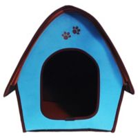 Penn-Plax® Dog's Life™ Home and Travel Pet House with Curved Roof in Blue