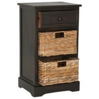 Safavieh Carrie Side Storage Table in Brown