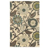 Rizzy Home Eden Harbor Flowers 5-Foot x 8-Foot Area Rug in Ivory