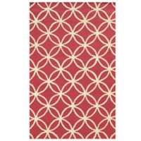 Rizzy Home Eden Harbor Circle Link 2-Foot x 3-Foot Accent Rug in Pink