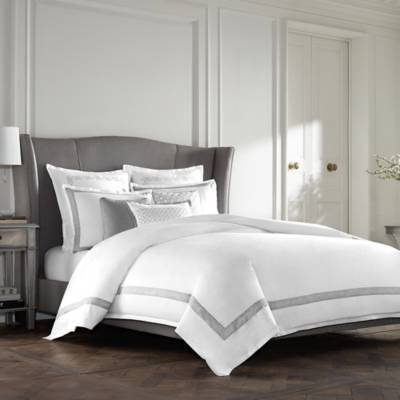 Product Image For Wamsutta Collection Luxury Italian Made Lucca Duvet Cover In White