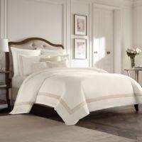 Wamsutta® Collection Luxury Italian-Made Positano European Pillow Sham in Ivory/Taupe