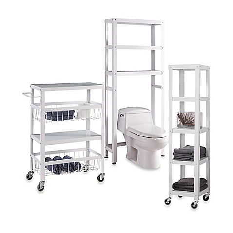 Flat Metal Bathroom Furniture Collection Bed Bath Amp Beyond