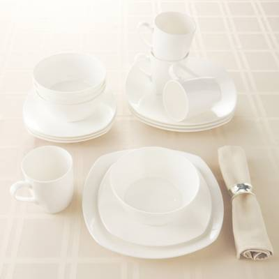 Tabletops Unlimited® Quattro Bone China 16-Piece Dinnerware Set ...