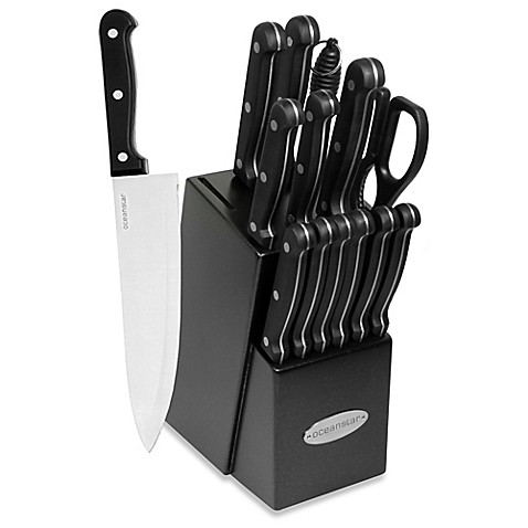Oceanstar 15 Piece Contemporary Cutlery Set With Black