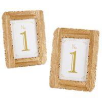 Kate Aspen® Gilded Gold Feather Frame