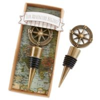 Kate Aspen® Our Adventure Begins Bottle Stopper in Gold