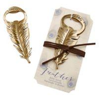Kate Aspen® Gilded Gold Feather Bottle Opener