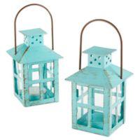 Kate Aspen® Vintage Blue Lantern