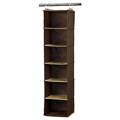 household essentials 6 shelf closet organizer in coffee