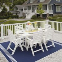 POLYWOOD® Nautical 7-Piece Outdoor Dining Set in White