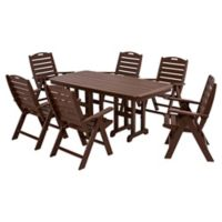 POLYWOOD® Nautical 7-Piece Outdoor Dining Set in Mahogany