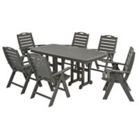 POLYWOOD® Nautical 7-Piece Outdoor Dining Set in Slate Grey
