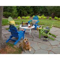POLYWOOD® Classic Folding Adirondack 5-Piece Conversation Set in Aruba Blue