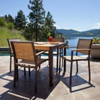 POLYWOOD® Bayline™ 5-Piece Outdoor Dining Set in Bronze/Natural