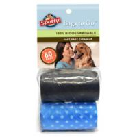 Spotty™ 60-Count Pickup Bags in Blue Dot/Black