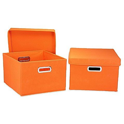 image of Household Essentials® Collapsible Storage Boxes (Set of 2)