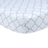 Trend Lab® Blue Sky Fitted Crib Sheet in Quatrefoil