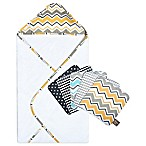 Trend Lab® Buttercup Zigzag 6-Piece Hooded Towel and Washcloth Bouquet Set