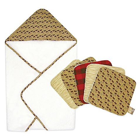 Trend Lab 174 Northwoods 6 Piece Hooded Towel And Washcloth