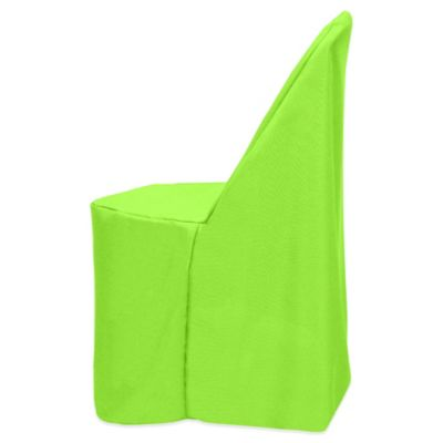 Basic Polyester Cover For Plastic Folding Chair In Neon Green