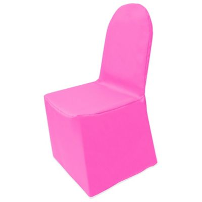 Basic Polyester Cover For Banquet Chair In Neon Pink