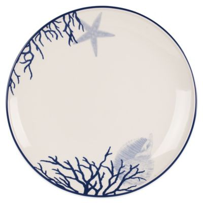 Everyday White® by Fitz and Floyd® Coastal Starfish u0026 Coral Dinner Plate  sc 1 st  Bed Bath u0026 Beyond : bed bath and beyond dinner plates - pezcame.com