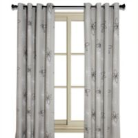 Crawford 95-Inch Floral Print Room-Darkening Window Curtain Panel in Sand