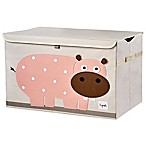3 Sprouts Hippo Toy Chest in Pink
