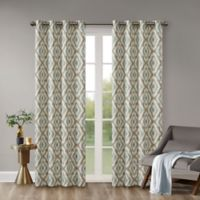 INK+IVY Ankara 84-Inch Window Curtain Panel in Aqua