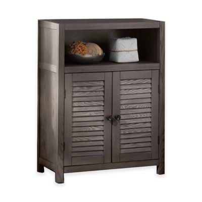 Drift Single Shelf Wood Floor Cabinet In Grey