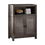 Drift Single-Shelf Wood Floor Cabinet in Grey