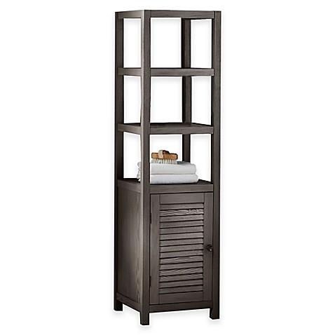 drift 3 shelf wood tower cabinet bed bath beyond. Black Bedroom Furniture Sets. Home Design Ideas