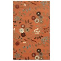 Rizzy Home Eden Harbor Floral 3-Foot x 5-Foot Area Rug in Orange
