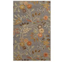 Rizzy Home Eden Harbor Floral 8-Foot x 10-Foot Area Rug in Grey