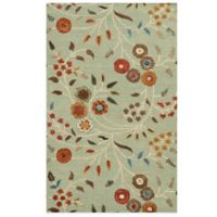 Rizzy Home Eden Harbor Circles 8-Foot x 10-Foot Area Rug in Blue