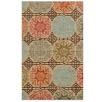 Rizzy Home Eden Harbor Medallion 8-Foot x 10-Foot Area Rug in Beige