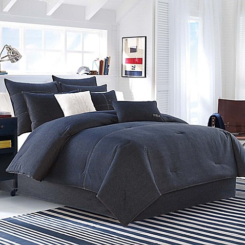 Nautica 174 Seaward Comforter Set In Denim Blue Bed Bath
