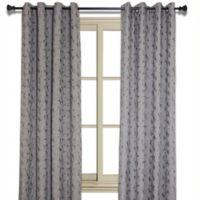 Simone 95-Inch Jacquard Leaf Room-Darkening Window Curtain Panel in Mink