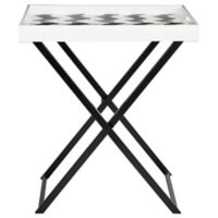 Safavieh Abba Tray Table in Black/White